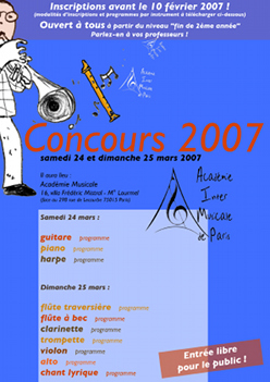 Concours instrumental 2007